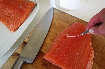 Слабосоленая семга — 7 рецептов соления семги в домашних условиях этап 3