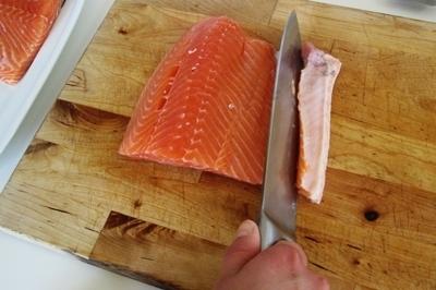 Слабосоленая семга — 7 рецептов соления семги в домашних условиях этап 2