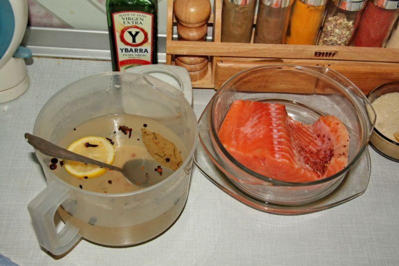 Слабосоленая семга — 7 рецептов соления семги в домашних условиях этап 25