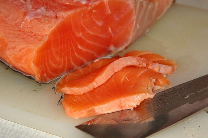 Слабосоленая семга — 7 рецептов соления семги в домашних условиях этап 28