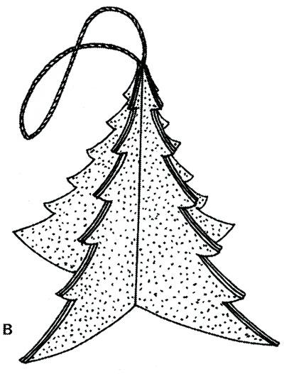 Объемная елка из бумаги — схемы и трафареты для создания елки своими руками этап 3