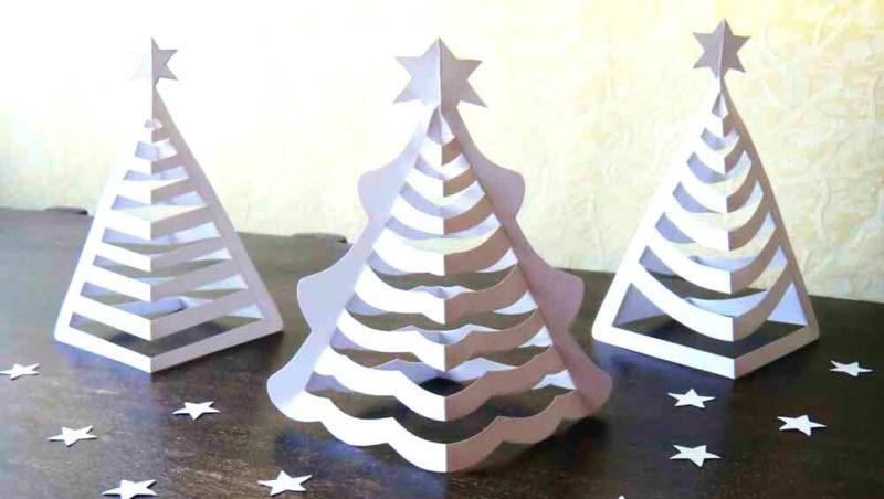 Объемная елка из бумаги — схемы и трафареты для создания елки своими руками этап 7