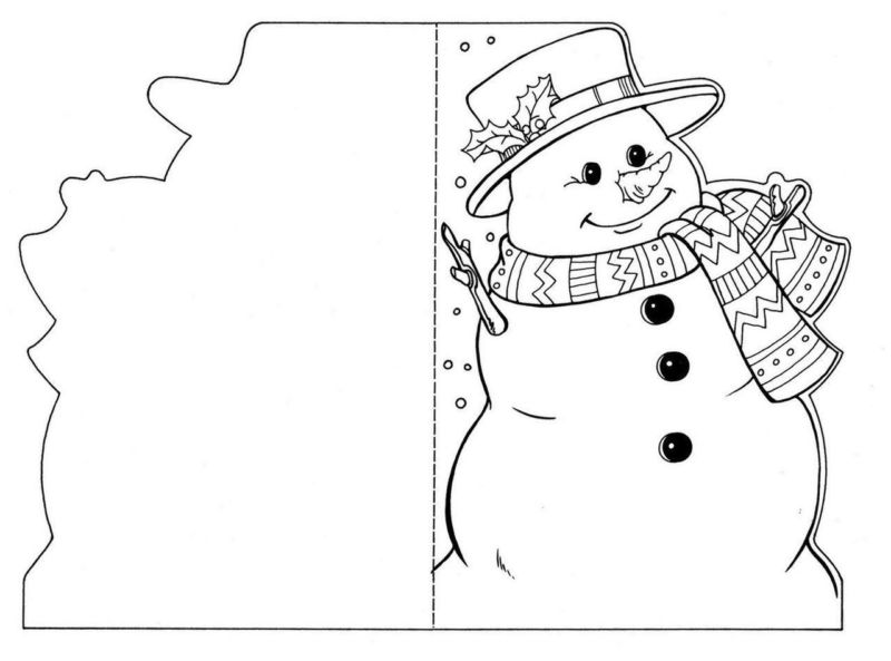 Новогодние открытки своими руками для детей: мастер-классы и шаблоны открыток на Новый год 2021 этап 62