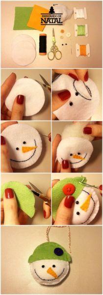Снеговик своими руками на Новый год из подручных материалов этап 122