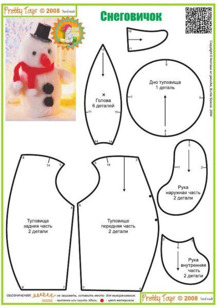 Снеговик своими руками на Новый год из подручных материалов этап 158
