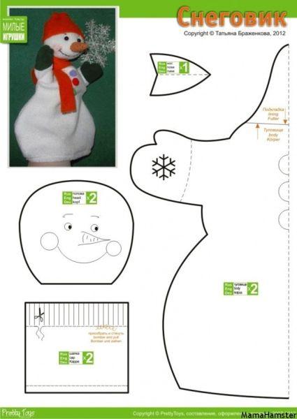 Снеговик своими руками на Новый год из подручных материалов этап 159