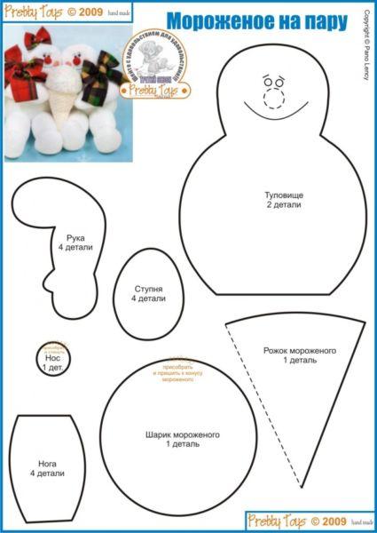 Снеговик своими руками на Новый год из подручных материалов этап 150