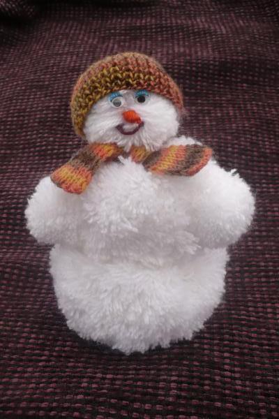 Снеговик своими руками на Новый год из подручных материалов этап 141