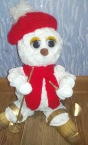 Снеговик своими руками на Новый год из подручных материалов этап 112