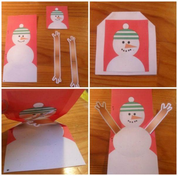 Новогодние открытки своими руками для детей: мастер-классы и шаблоны открыток на Новый год 2021 этап 24