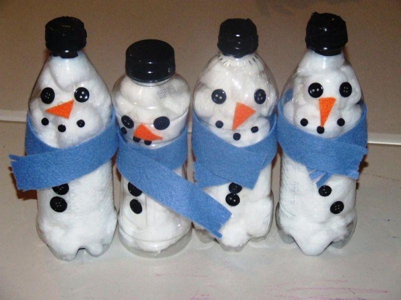 Снеговик своими руками на Новый год из подручных материалов этап 135