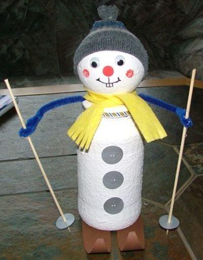 Снеговик своими руками на Новый год из подручных материалов этап 138
