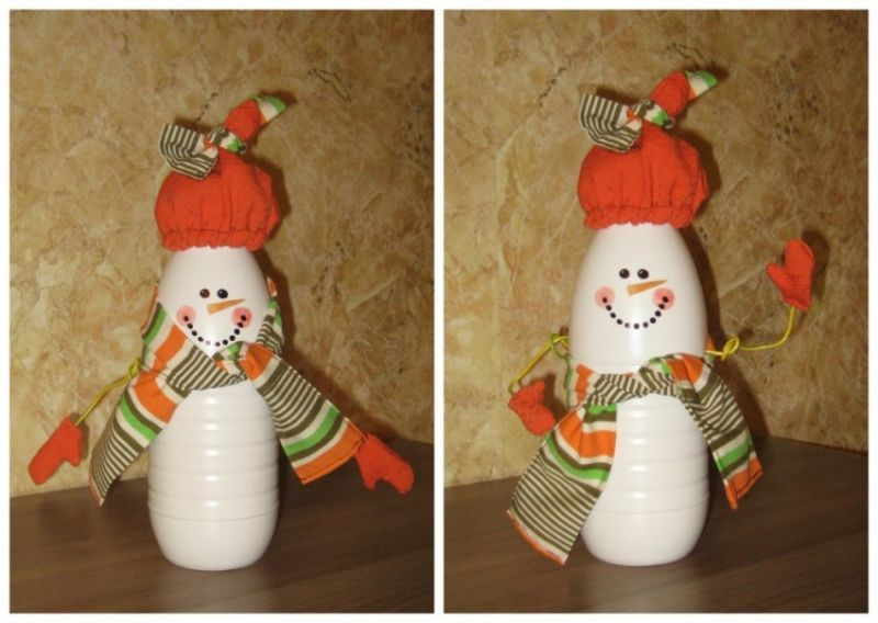 Снеговик своими руками на Новый год из подручных материалов этап 137