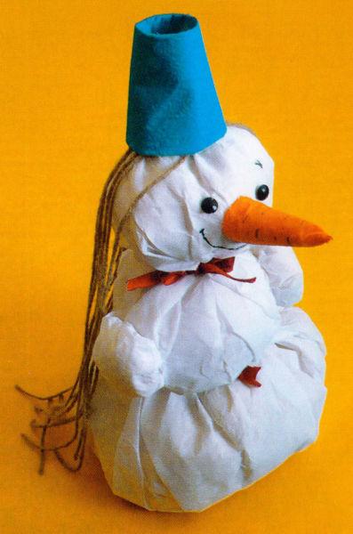 Снеговик своими руками на Новый год из подручных материалов этап 81