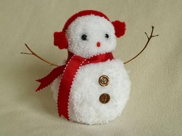 Снеговик своими руками на Новый год из подручных материалов этап 149