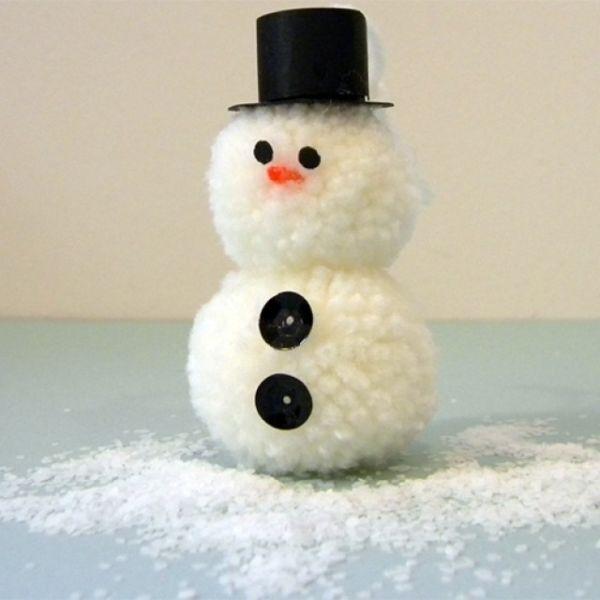 Снеговик своими руками на Новый год из подручных материалов этап 147