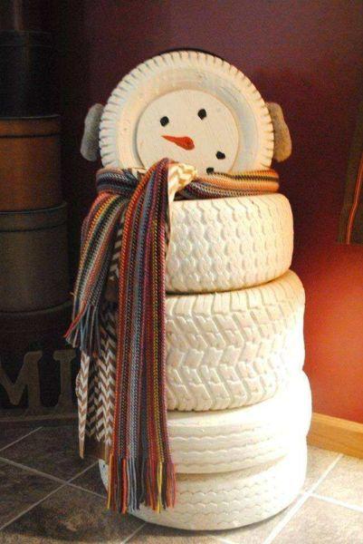 Снеговик своими руками на Новый год из подручных материалов этап 161