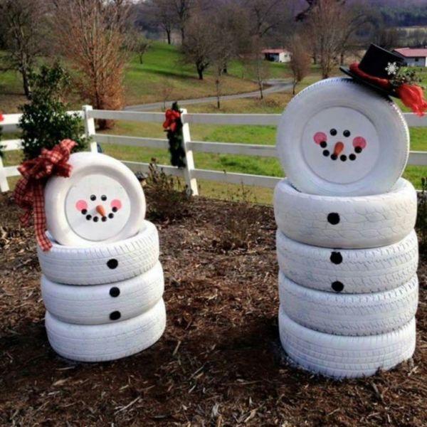 Снеговик своими руками на Новый год из подручных материалов этап 162