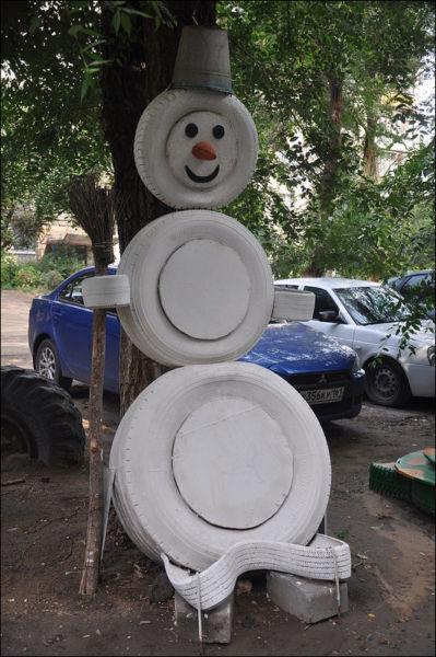 Снеговик своими руками на Новый год из подручных материалов этап 163