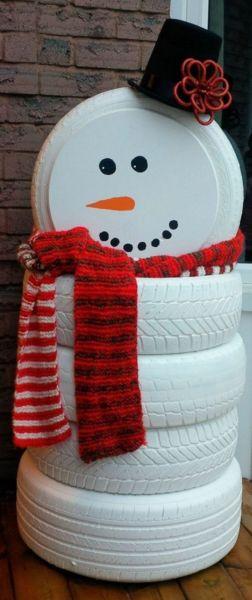 Снеговик своими руками на Новый год из подручных материалов этап 164