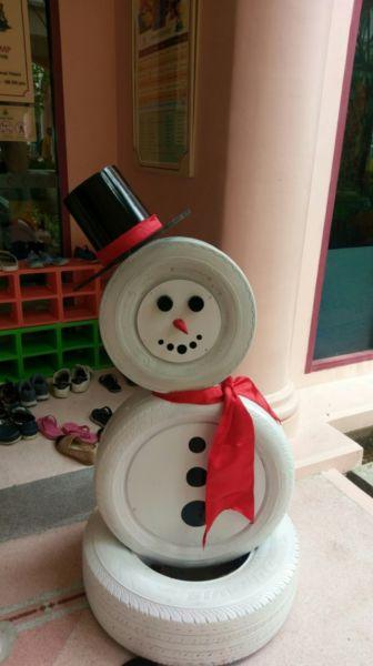 Снеговик своими руками на Новый год из подручных материалов этап 165