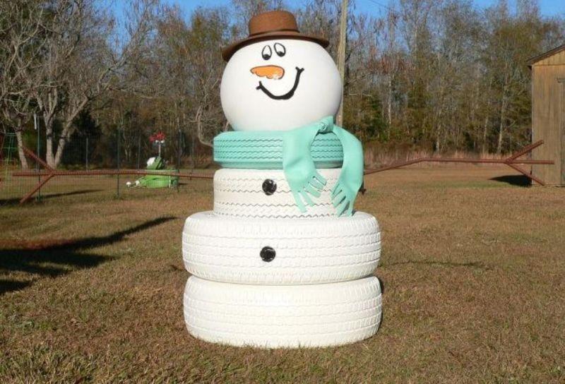 Снеговик своими руками на Новый год из подручных материалов этап 160