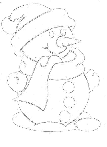 Снеговик своими руками на Новый год из подручных материалов этап 97
