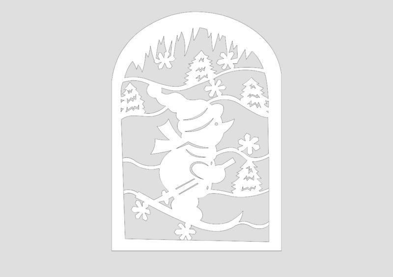 Снеговик своими руками на Новый год из подручных материалов этап 98
