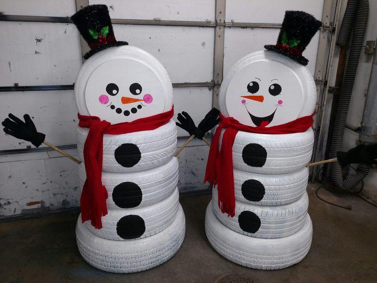 Снеговик своими руками на Новый год из подручных материалов этап 166
