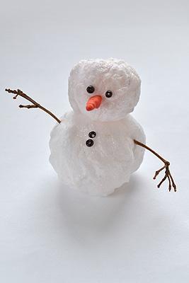 Снеговик своими руками на Новый год из подручных материалов этап 107