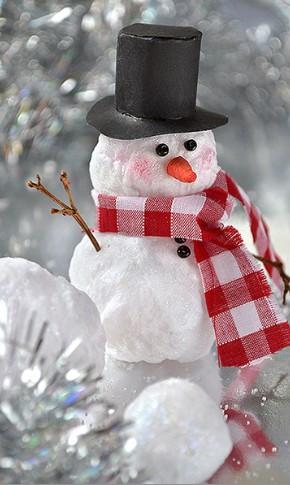 Снеговик своими руками на Новый год из подручных материалов этап 101