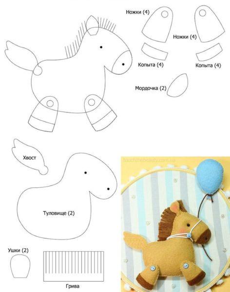 Игрушки из фетра своими руками — выкройки и шаблоны для начинающих этап 21