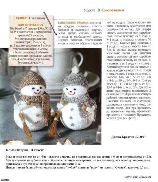 Снеговик своими руками на Новый год из подручных материалов этап 54