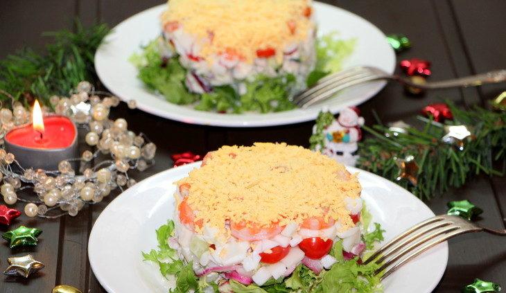 Салаты на Рождество Христово 2020 — 5 простых и вкусных рецептов этап 27