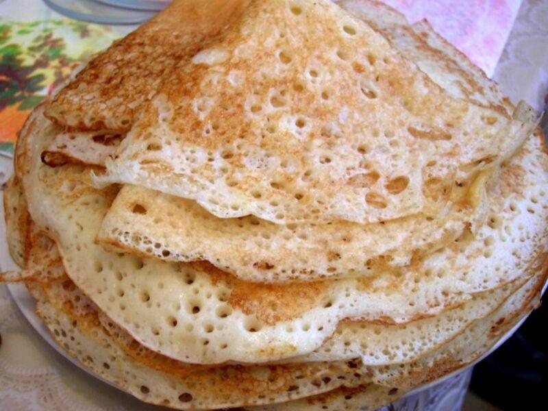 Заварные блины на кефире — рецепты тонких блинчиков с дырочками