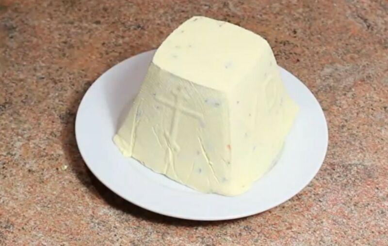 Заварная творожная пасха: 6 рецептов приготовления этап 30