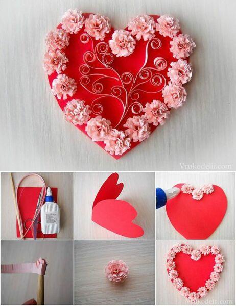Поделки на День Святого Валентина своими руками для детей: самые красивые идеи поделок на 14 февраля этап 36
