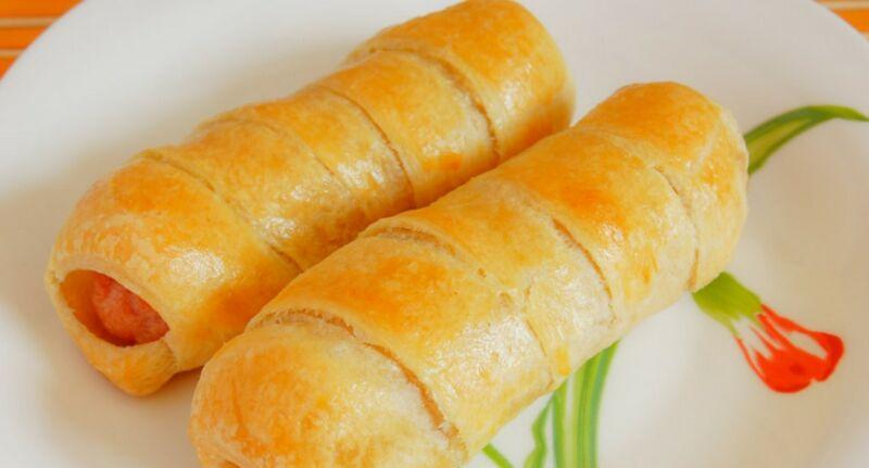 Сосиски в тесте — 6 рецептов приготовления в духовке этап 13