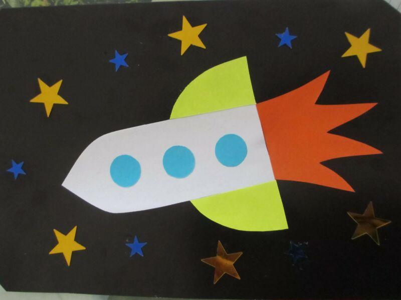 Ракета из бумаги и картона для детей: как сделать своими руками поделку ракету этап 85