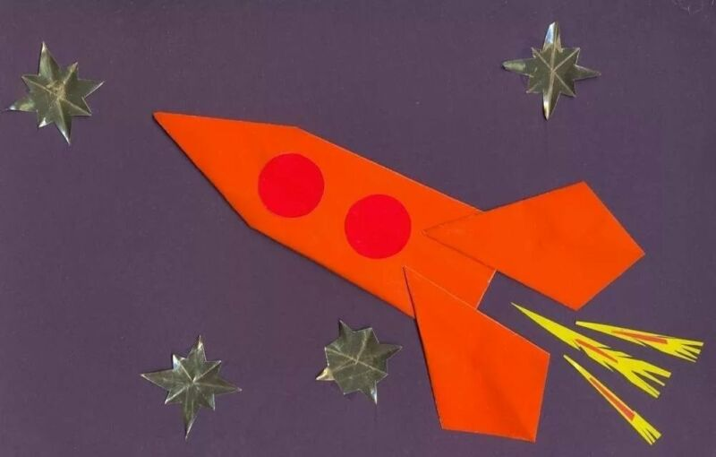 Ракета из бумаги и картона для детей: как сделать своими руками поделку ракету этап 86