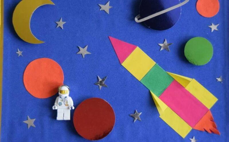 Ракета из бумаги и картона для детей: как сделать своими руками поделку ракету этап 87
