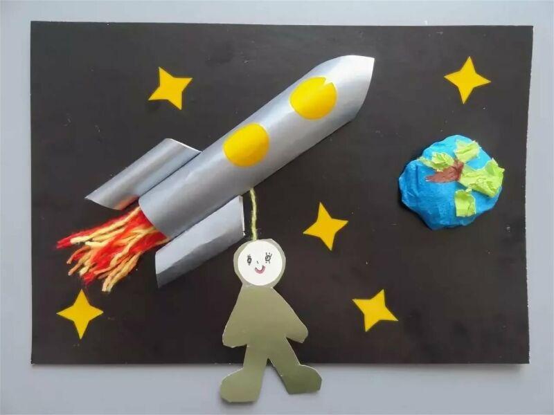 Ракета из бумаги и картона для детей: как сделать своими руками поделку ракету этап 88