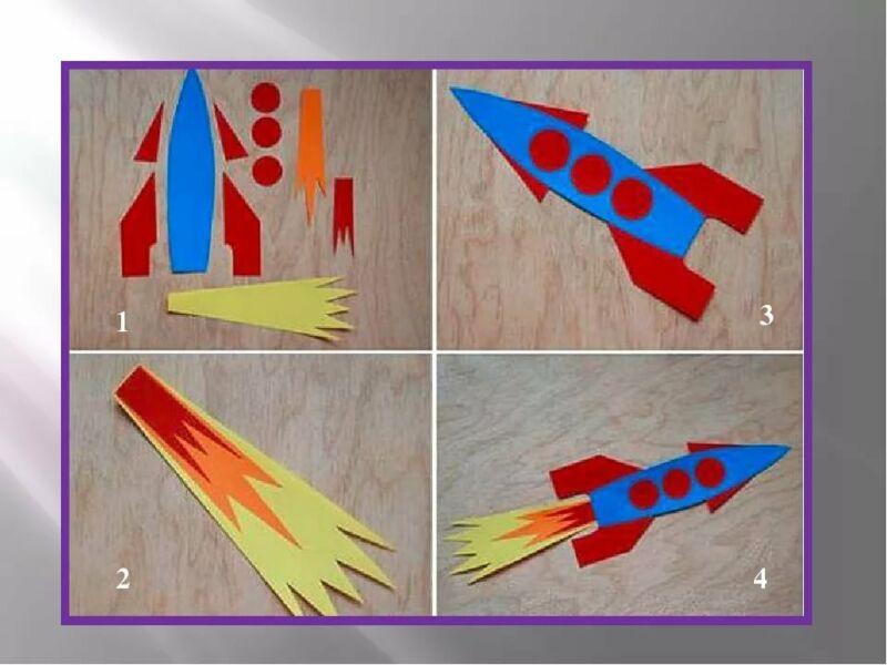 Ракета из бумаги и картона для детей: как сделать своими руками поделку ракету этап 83
