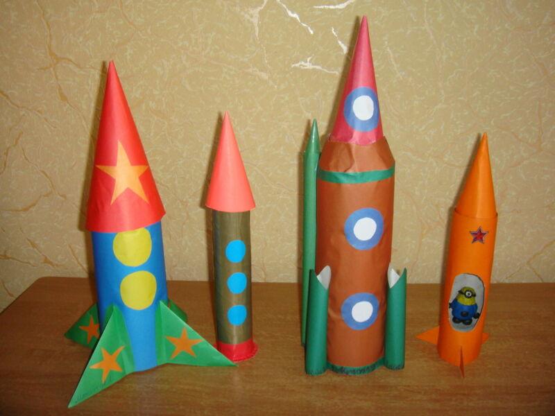 Ракета из бумаги и картона для детей: как сделать своими руками поделку ракету этап 1