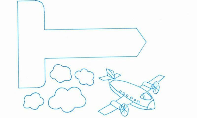 Открытка в виде самолета распечатать