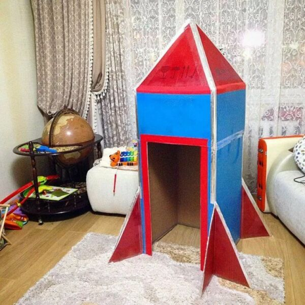 Ракета из бумаги и картона для детей: как сделать своими руками поделку ракету этап 64
