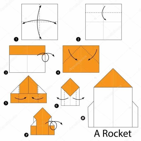 Ракета из бумаги и картона для детей: как сделать своими руками поделку ракету этап 66