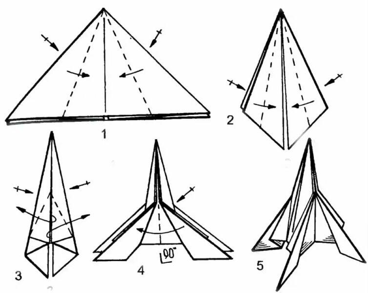Ракета из бумаги и картона для детей: как сделать своими руками поделку ракету этап 67