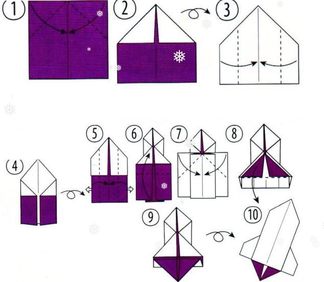 Ракета из бумаги и картона для детей: как сделать своими руками поделку ракету этап 71