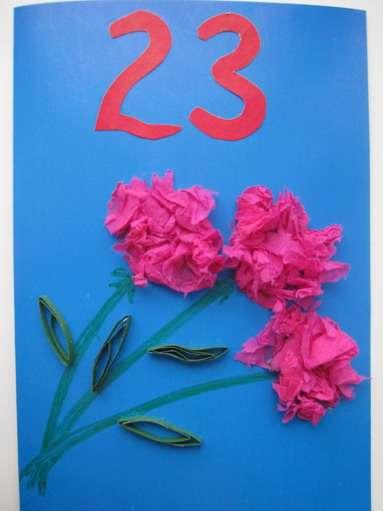 Детишек, открытка гвоздики папе на 23 февраля